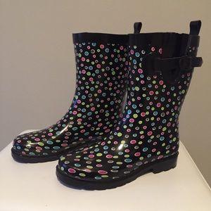 Capelli Polka-Dot Rain Boots 7